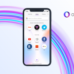 Opera Touch with its unique UI
