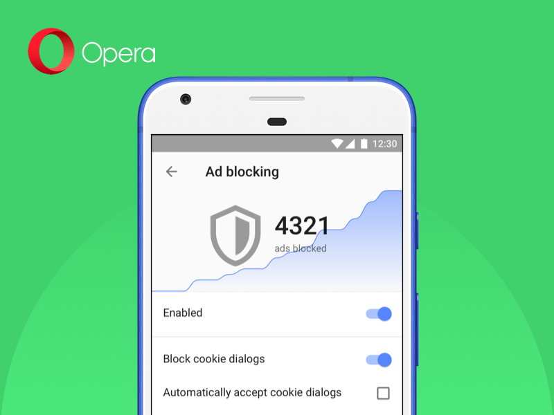 New version of Opera browser for Android lets users block cookie dialogs