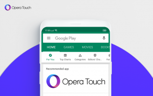 Thumbnail for 'Five tips and tricks to take browsing with Opera Touch to the next level'