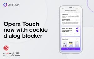 Thumbnail for 'Opera Touch comes with cookie dialog blocker and 23 other improvements'