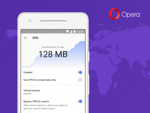 Thumbnail for 'Opera browser VPN coming to Android'