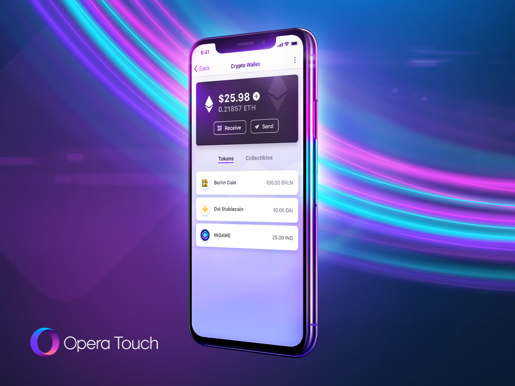 Opera Touch iOS Crypto Wallet
