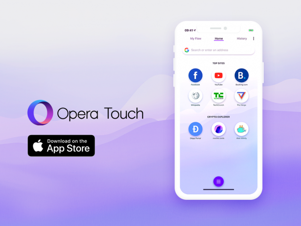 Opera Touch now has a built-in Crypto Wallet and dApp explorer