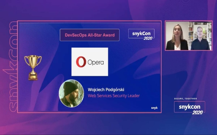 Opera at SnykCon2020 gets DevSecOps Award