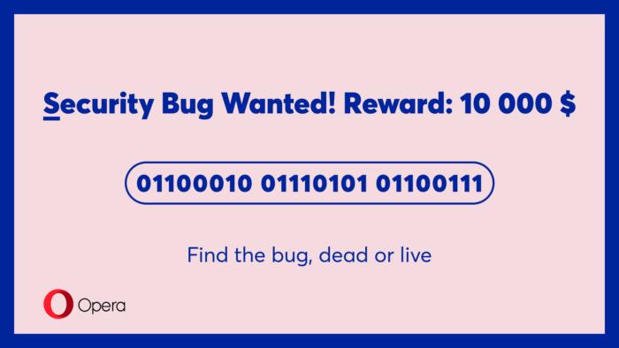 Bug wanted
