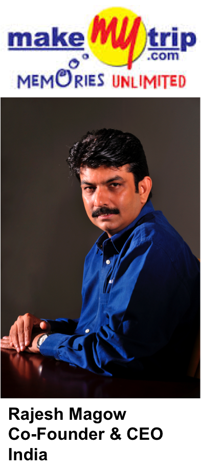 Rajesh Magow Co-Founder CEO India MakeMyTrip