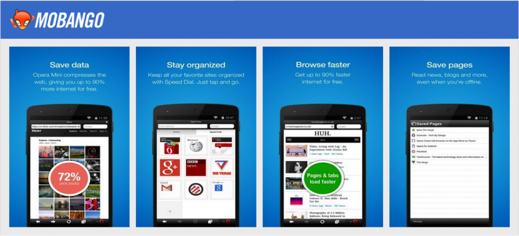 Download Opera Mini from Mobango