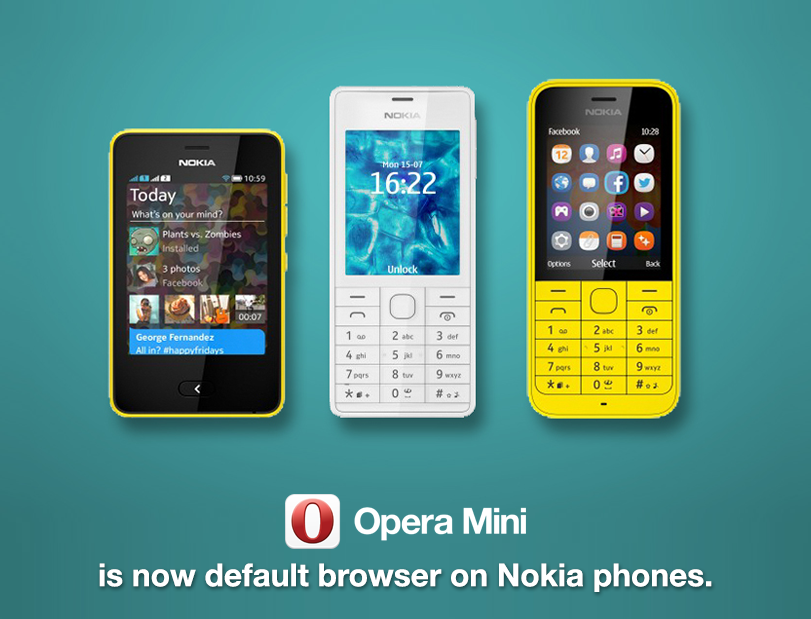 Opera Mini default browser for Nokia Asha