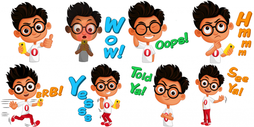 Opera stickers on LINE