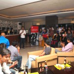 Stand-up comedian, Daniel Fernandes, entertaining the crowd at the Opera Meetup