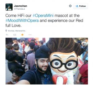 Jasmohan Opera mascot at mood indigo 1