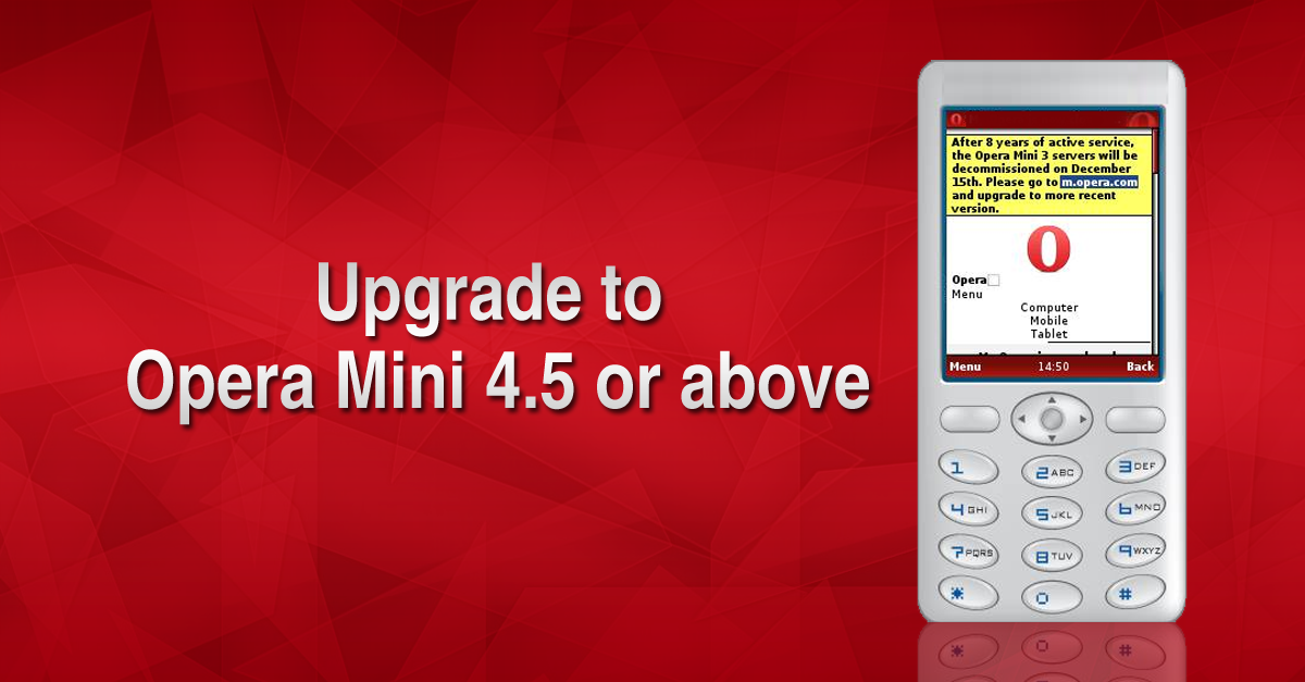Upgrade to the newest Opera Mini on Java and basic phones