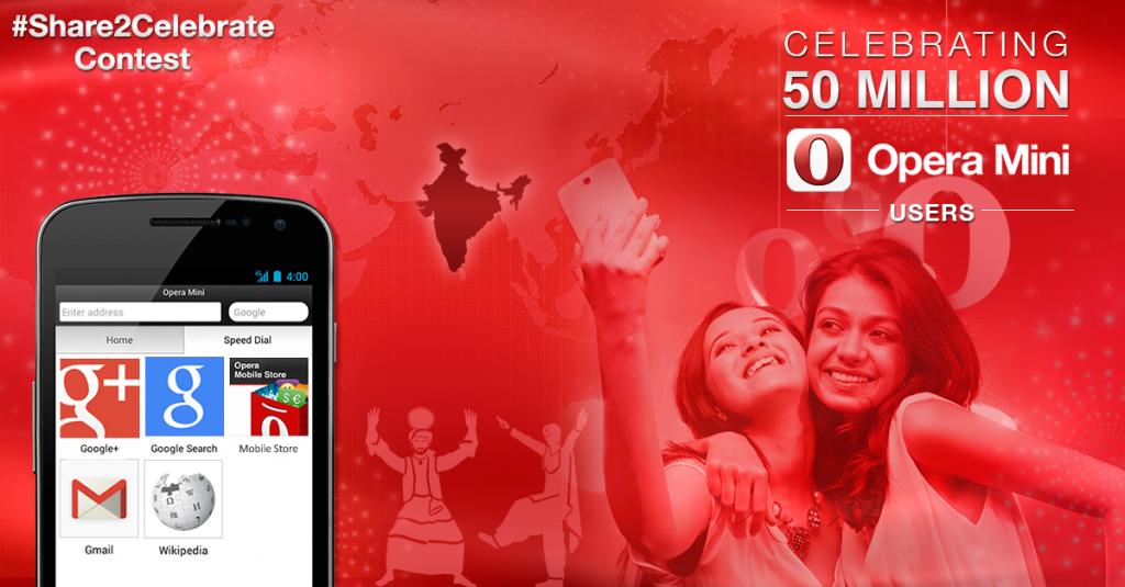 Celebrating #Opera50m with #share2celebrate contest