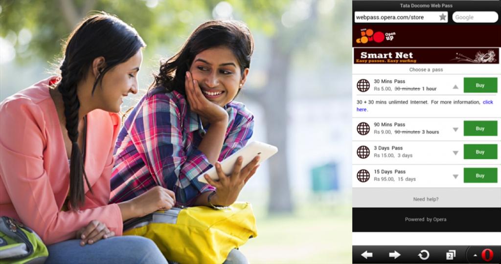Tata Docomo and Opera Mini Smart Net