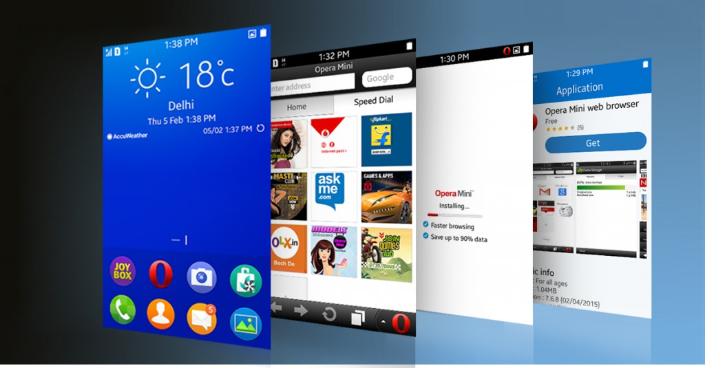 Download Opera Mini on Samsung Z1