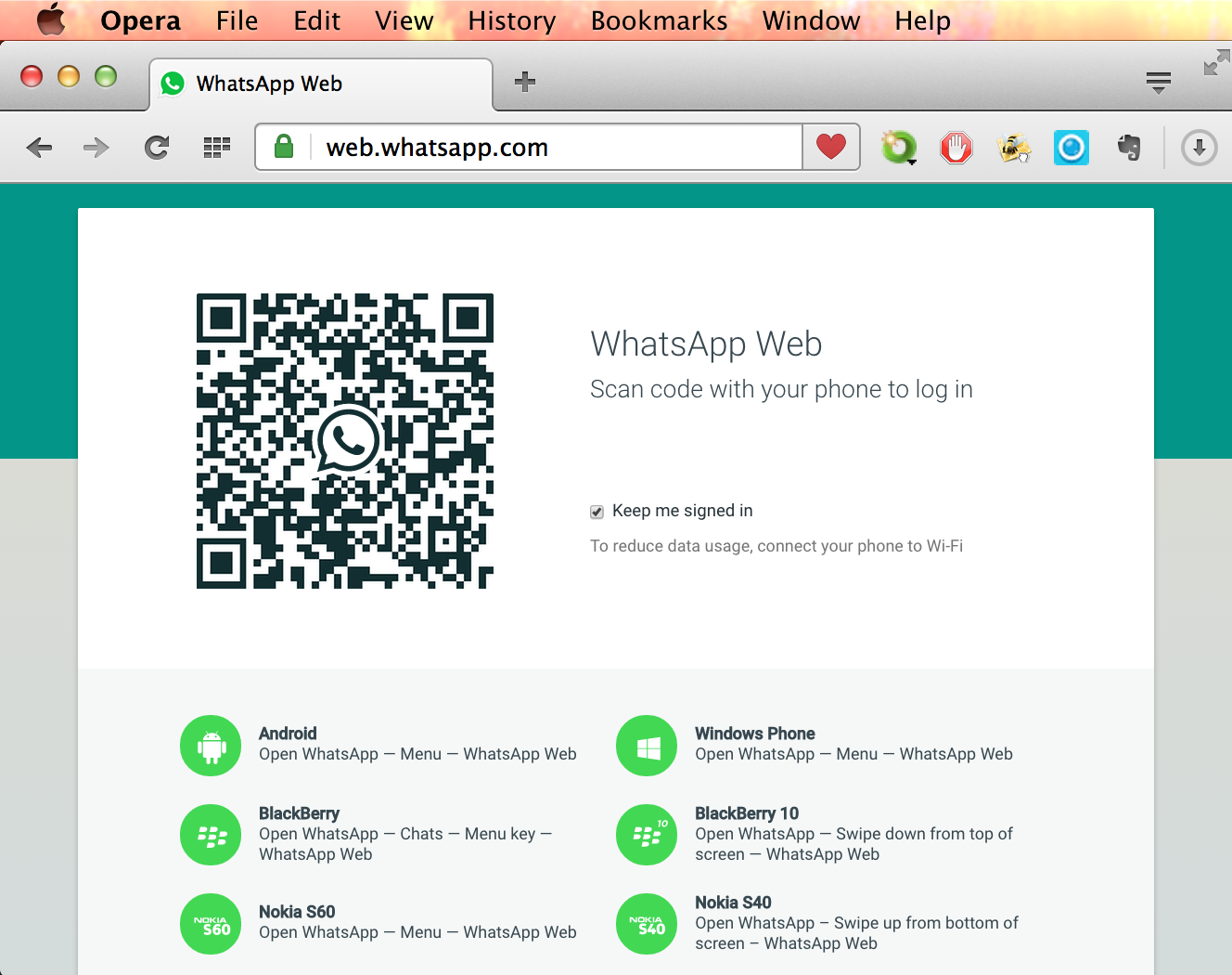 Chat with WhatsApp Web using Opera for computers - Opera India