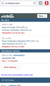 Top 5 sites to follow for live cricket scores - Opera India