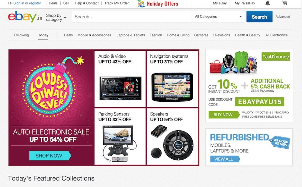 Diwali shopping on ebay