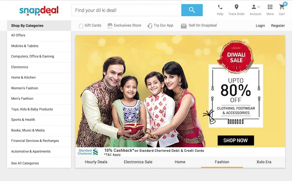 Diwali shopping on Snapdeal