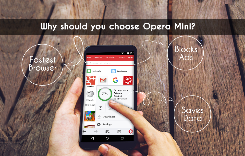Best browser for Android - Opera Mini