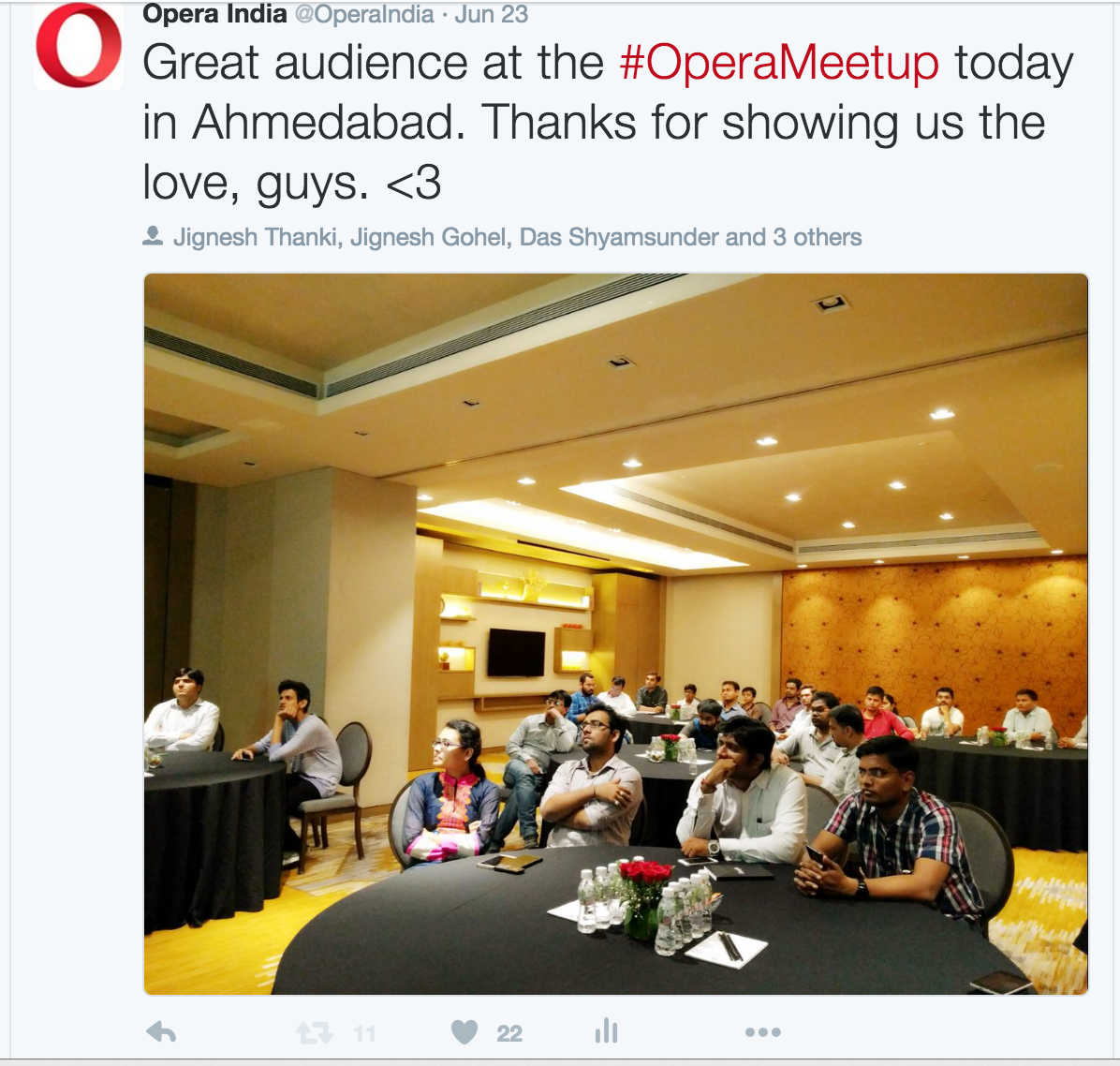 audience at opera meetup