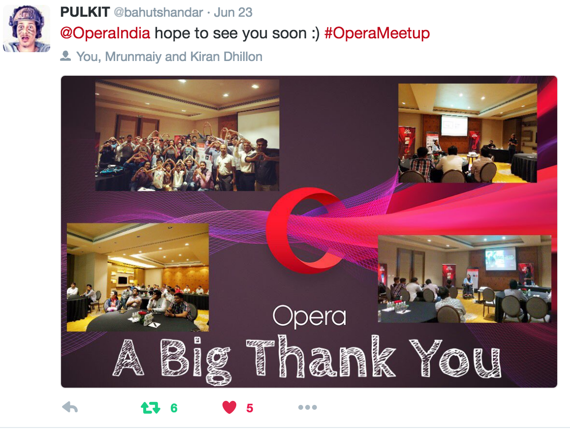 Creating the right noise at Opera meetup