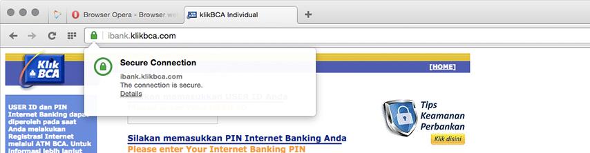 Opera Certificate Jamin Keamanan Browsing