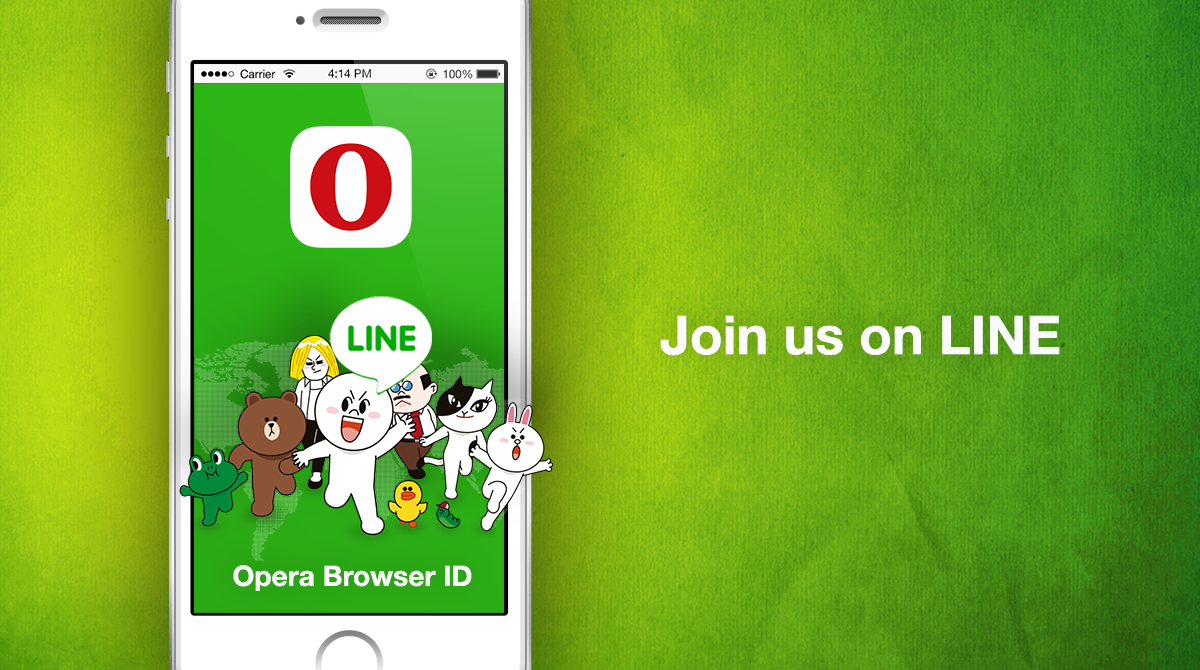 Opera Browser ID on LINE app