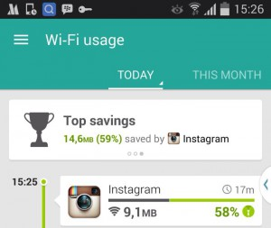 Instagram savings