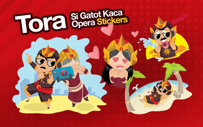 Opera LINE Stickers TORA