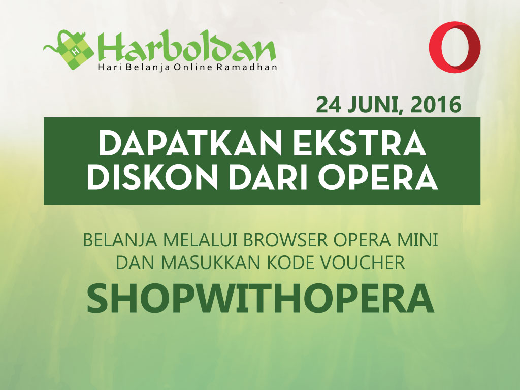 Belanja hemat dengan Opera