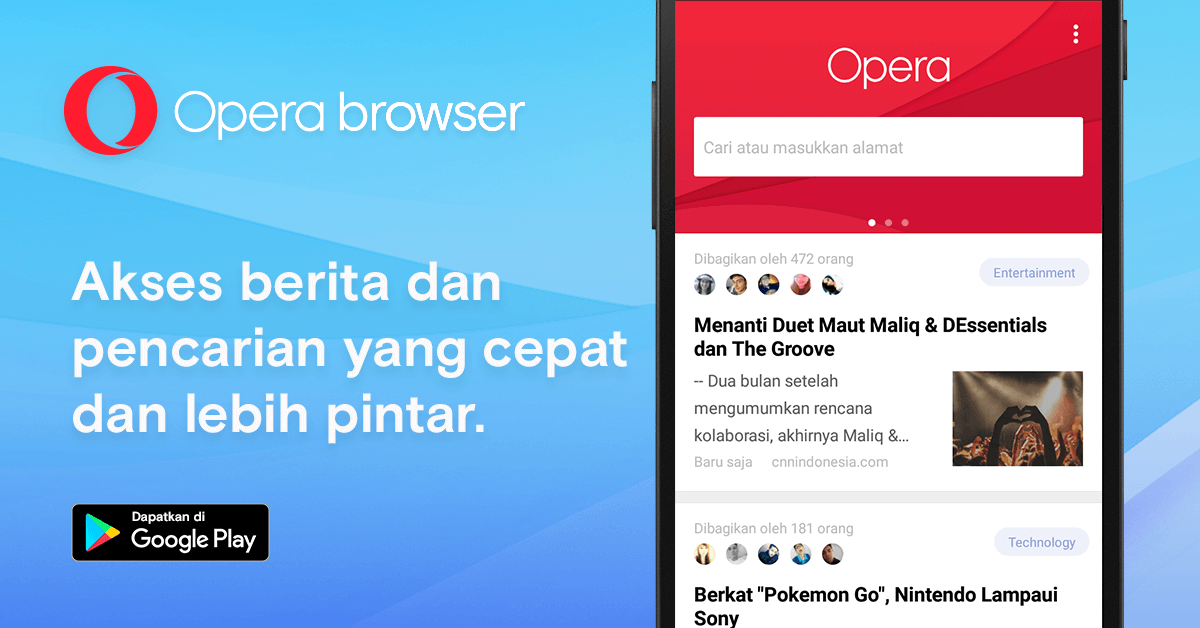 Opera Browser Read News
